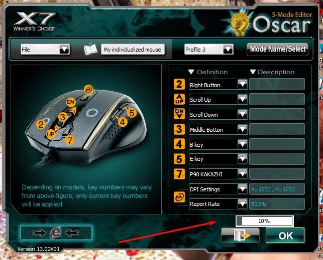 cara setting mouse macro x7 f6