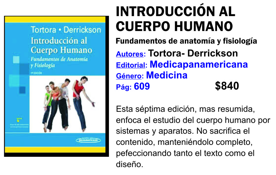 INTRODUCCION AL CUERPO HUMANO TORTORA DERRICKSON EBOOK DOWNLOAD