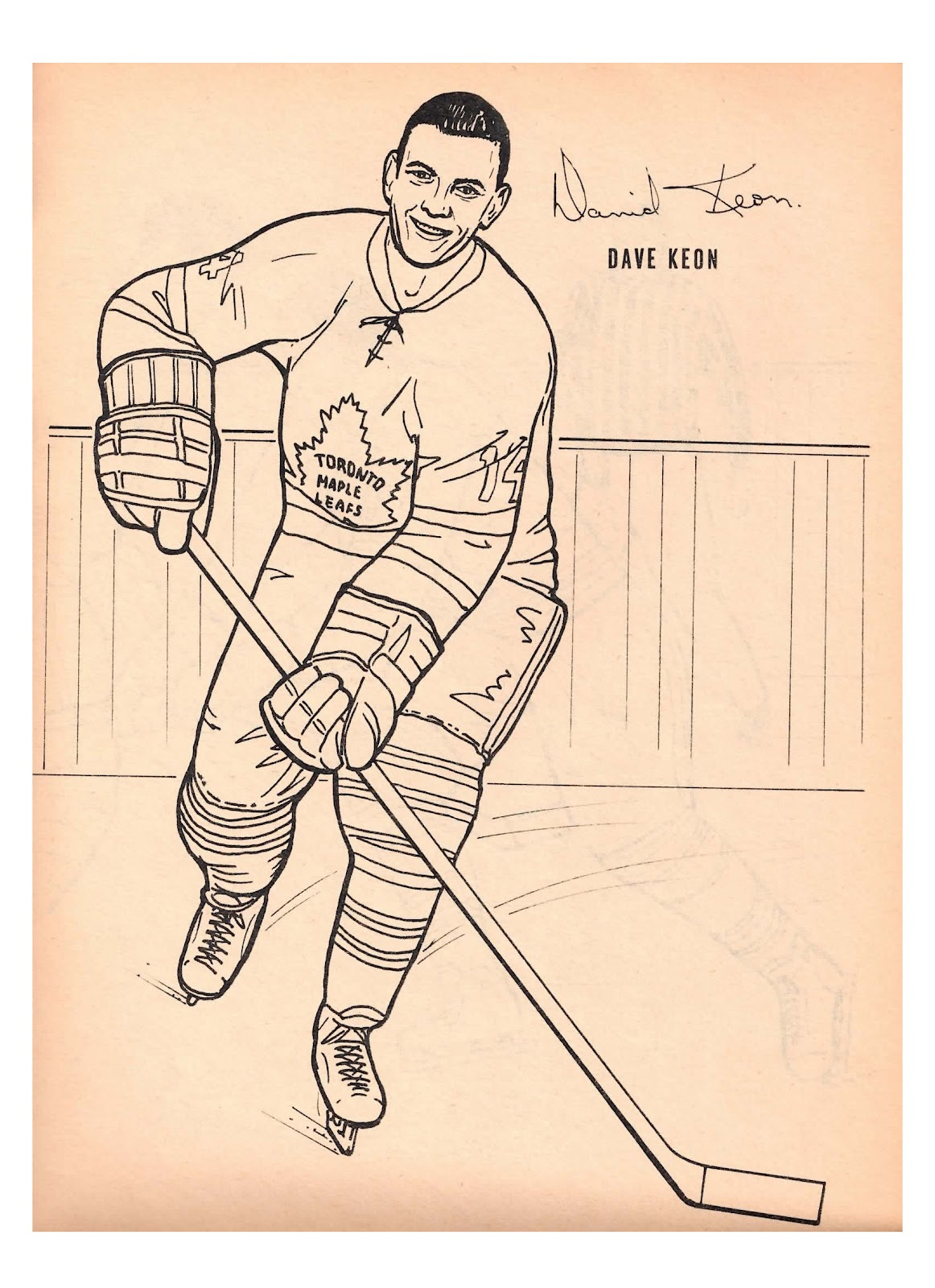 coloring page of a maple leaf - nitzy 39 s hockey den maple leafs 1964 colouring book