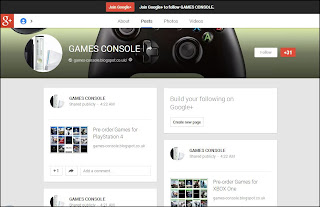 GAMES CONSOLE on Google+