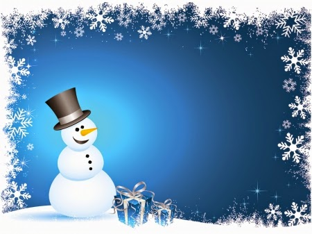 snowman snowflakes and gifts