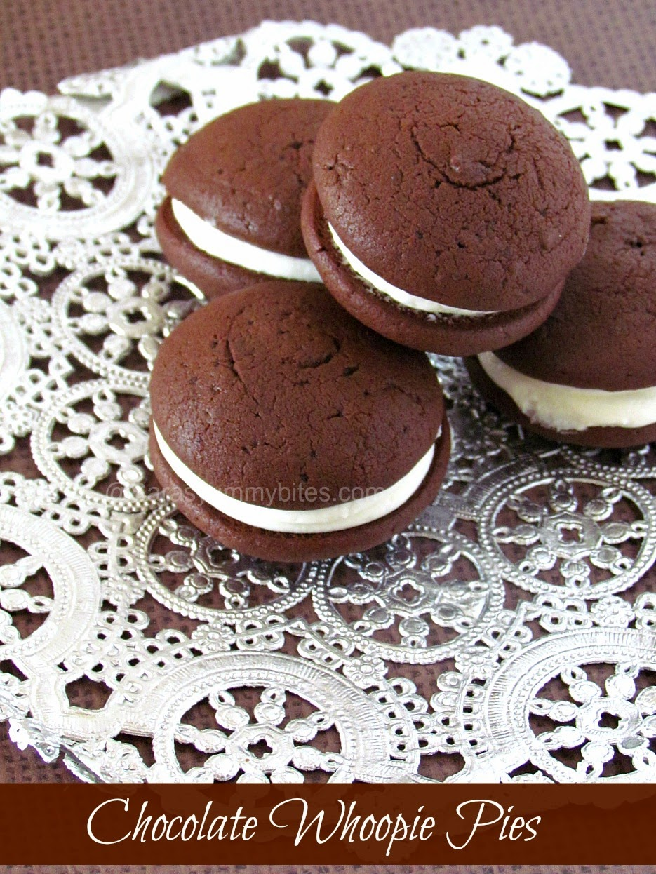 Chocolate Whoopie Pies with Cream Cheese Filling