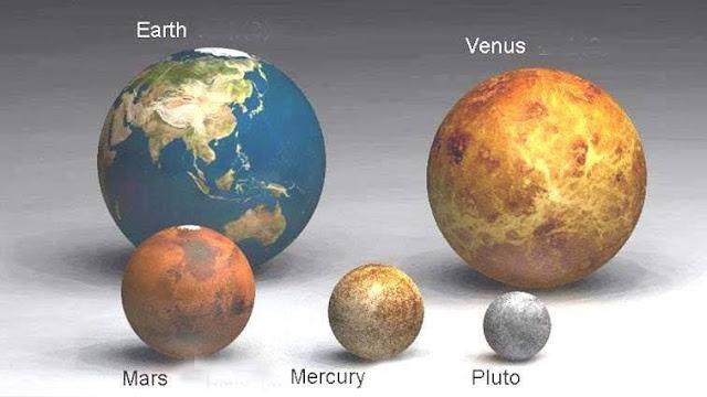 Earth Venus mars mercury pluto