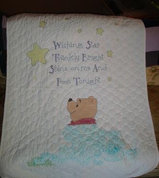 Pumpkin Hollow Primitives: Winnie the Pooh ~ Stamped Cross Stitch ... : winnie the pooh baby quilt - Adamdwight.com