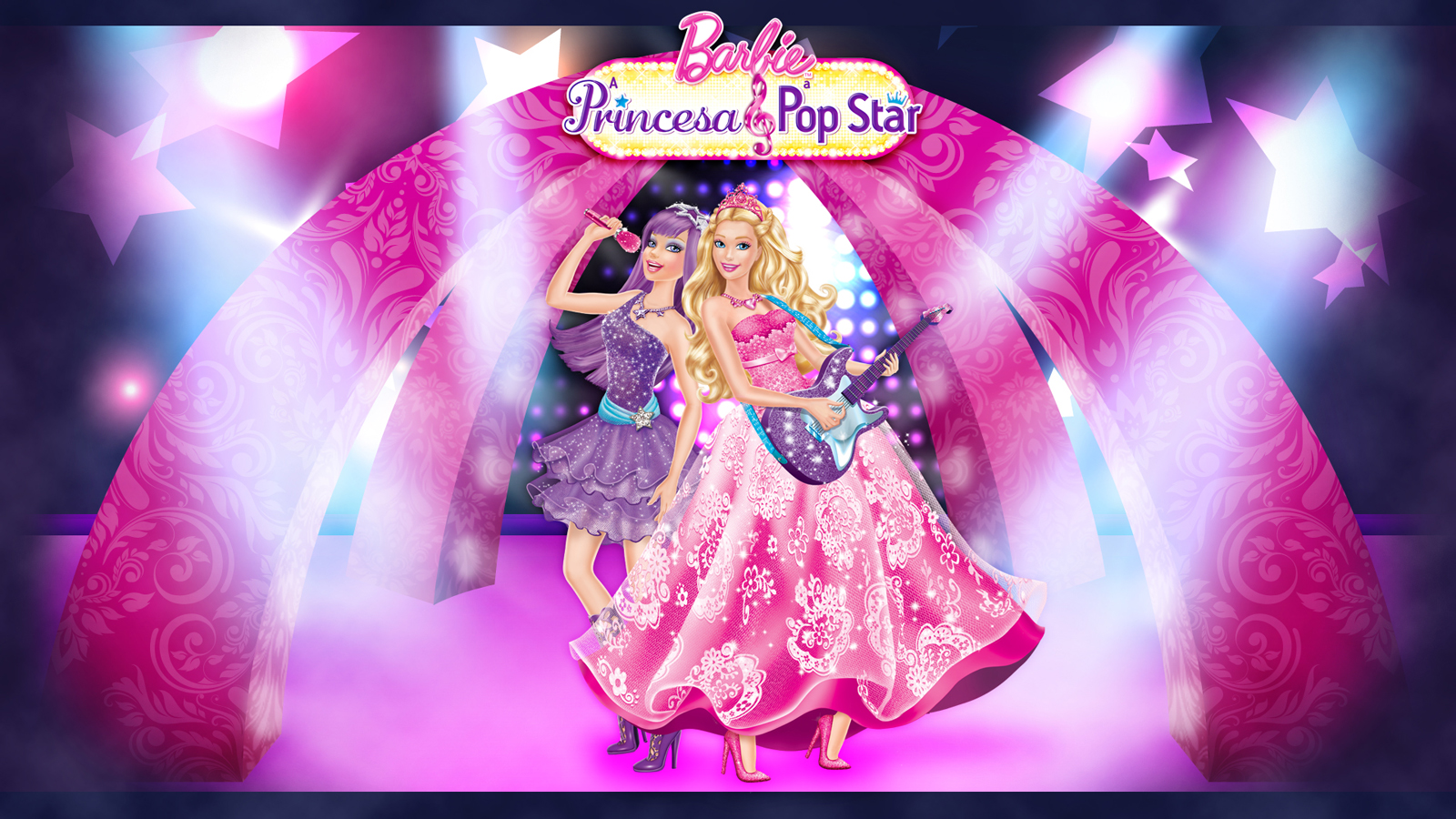 Barbie The Princess And Pop Star Wallpaper