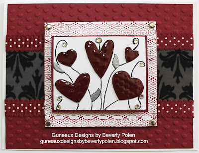 Stampin Up Adorning Accents Embossing Folders Valentine Card
