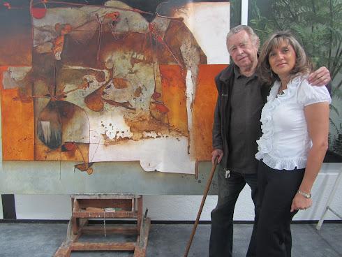 Con el Maestro Manuel Felguérez en su estudio