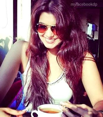 Stylish girl dp with morning Coffee
