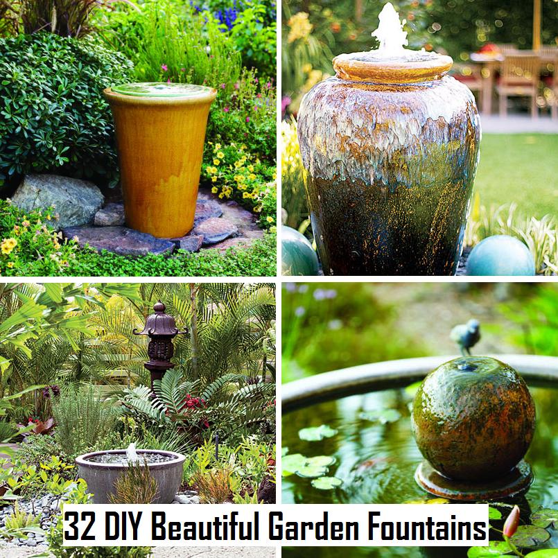 32 Diy Beautiful Garden Fountains Diy Craft Projects