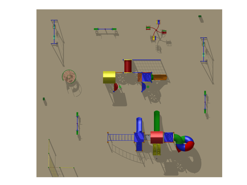 Детская площадка на Лорха, 7, вариант 1 (проект)