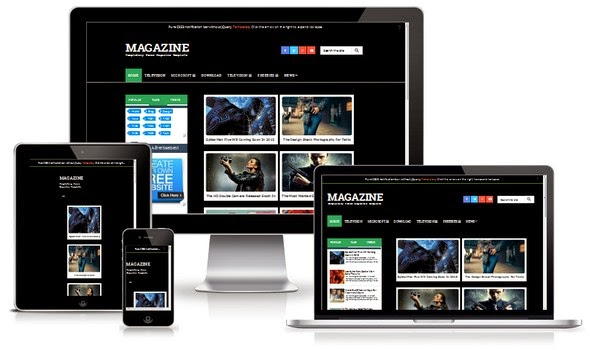 Magazine Responsive Blogger Template | Templatezy