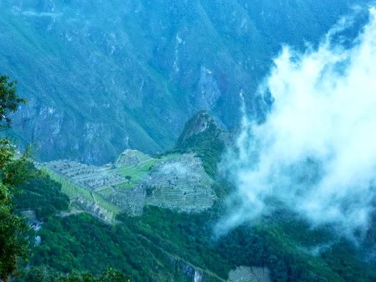 Machu Picchu view from the Sun Gate Inca Trail
