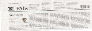 Diari El País dijous 25 d'octubre del 2012