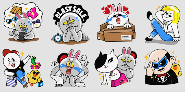 LINE Shopping stickers