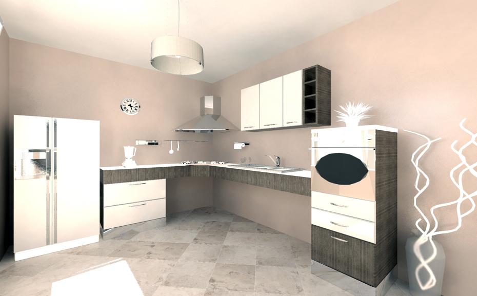 Progettazione 3D - cucina modulo \