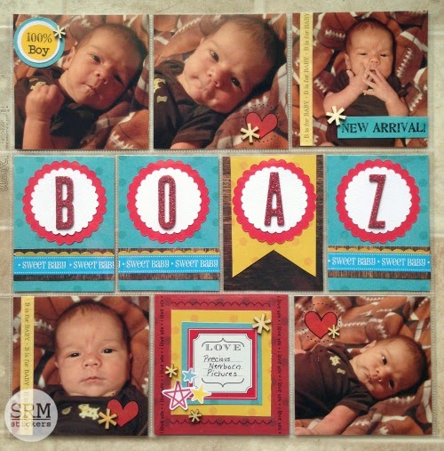 SRM Stickers - Baby Pocket Pages - SRM Style by Christine - #layout #baby