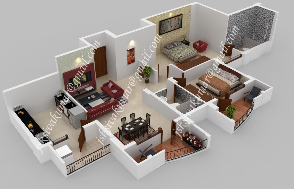 3D Designer Architect Interior / Exterior (3ds max, Maya): 3D  floor