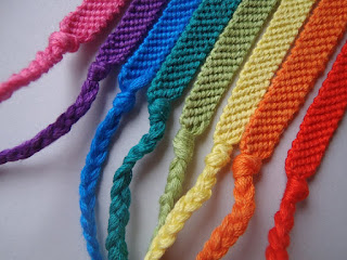Friendship Bracelet Rainbow Pink Purple Blue Green Lime Yellow Orange Red NellywithWings