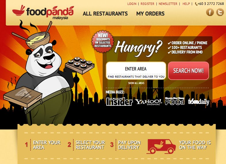 Order food online for delivery in Metro Manila areas for your