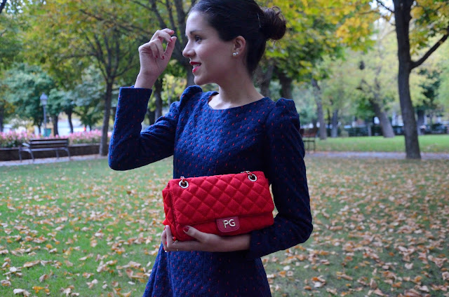 look-vestido-azul-blue-dress-mocasines-shoes-outfit-blogger-fashion