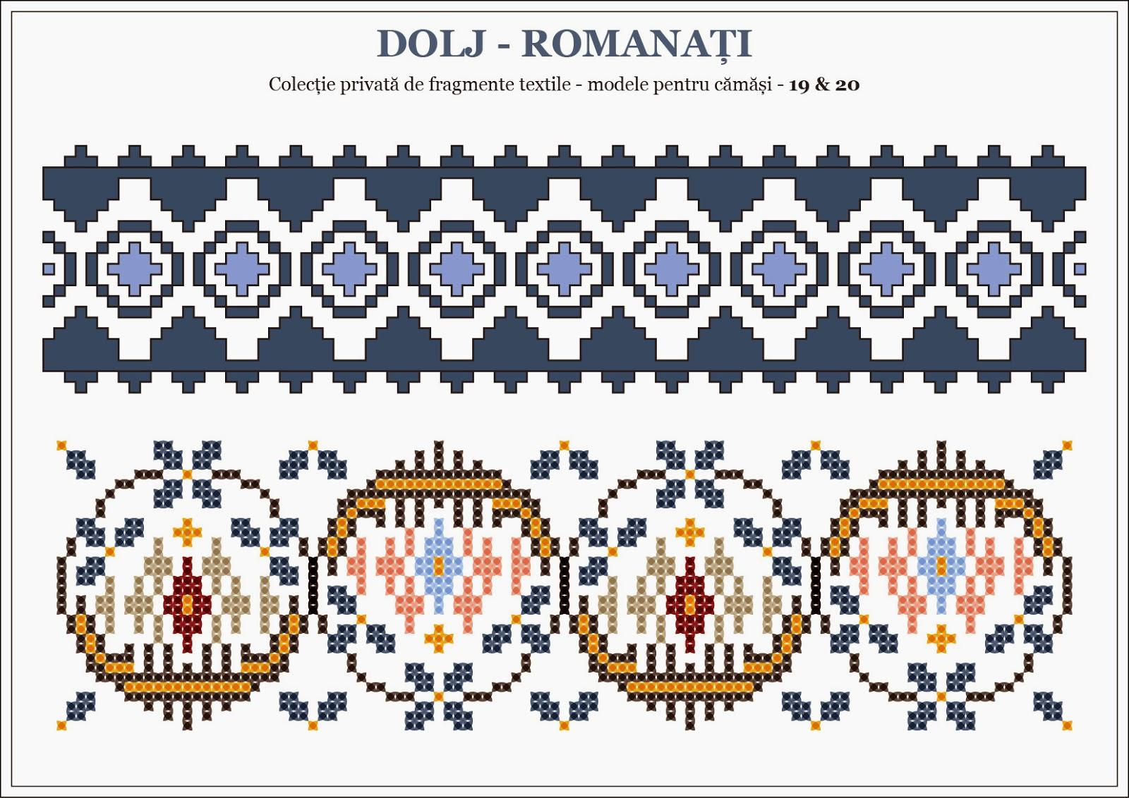 Semne Cusute Romanian Traditional Motifs Dolj Romanati Oltenia
