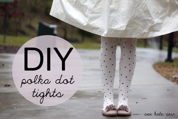 how-to: diy polka dot tights