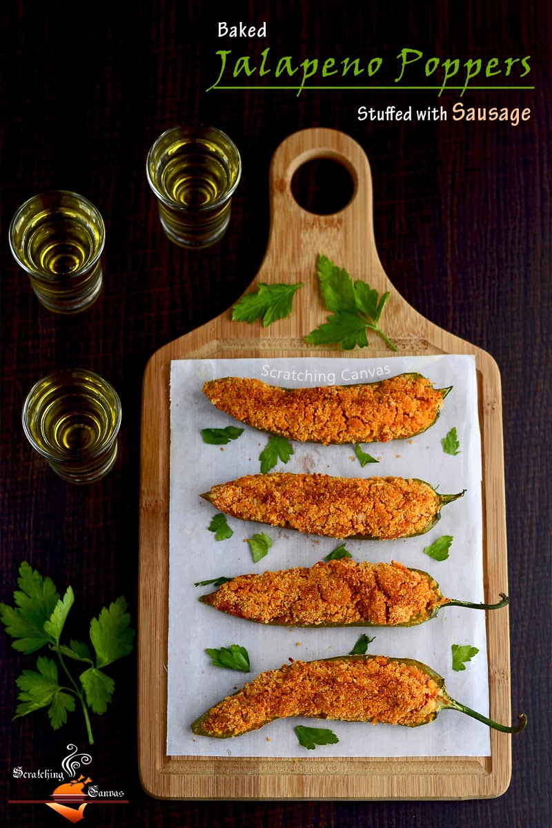 Skinny Jalapeno poppers with sausage