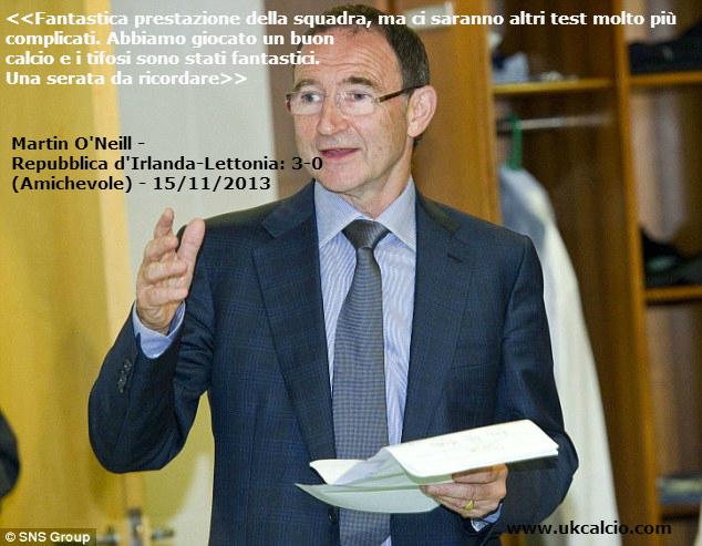 Le dichiarazioni di Martin O'Neill