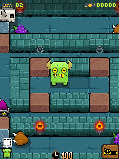 Screenshots of the Green Orcs: Tragic childhood for java mobile, phone.