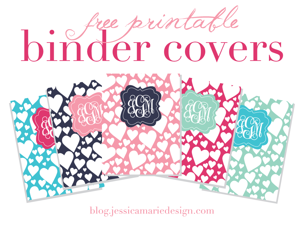 Free Printable Binder Covers by Jessica Marie Design