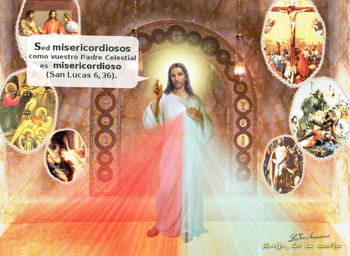 foto de jesus pidiendo que seamos misericordiosos
