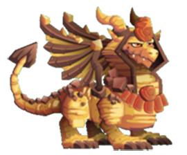 imagen del dragon esfinge adulto