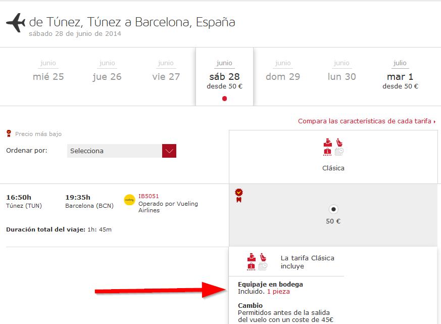 Iberia Vueling Túnez