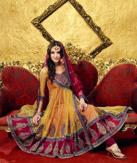 Seasonalsaloon12002: Anarkali Frocks And Bridal Dress