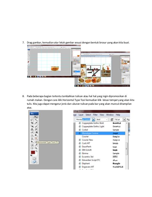 advertise online: Tutorial membuat brosur menggunakan