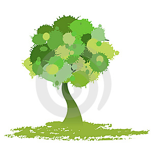 green tree drawing