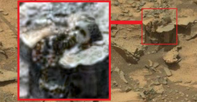 Has NASA Accidentally Found An Ancient Sumerian Statue On The Surface Of Mars?