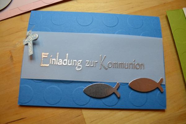 Einladungen kommunion basteln vorlagen for Einladungskarten kommunion basteln