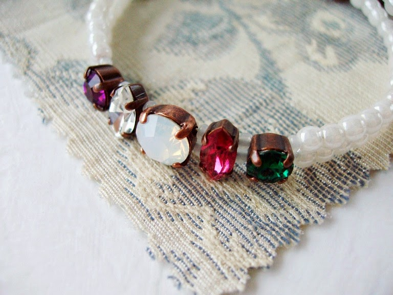 rhinestone jewellery vintage style acrostic