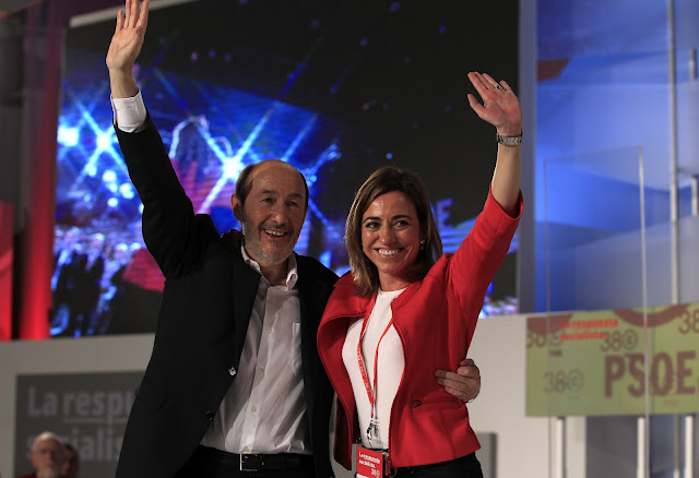Rubalcaba y Chacón en el Congreso del PSOE