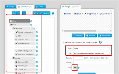Simple: Tambahkan Drop Down Menu Generator Di Blogger