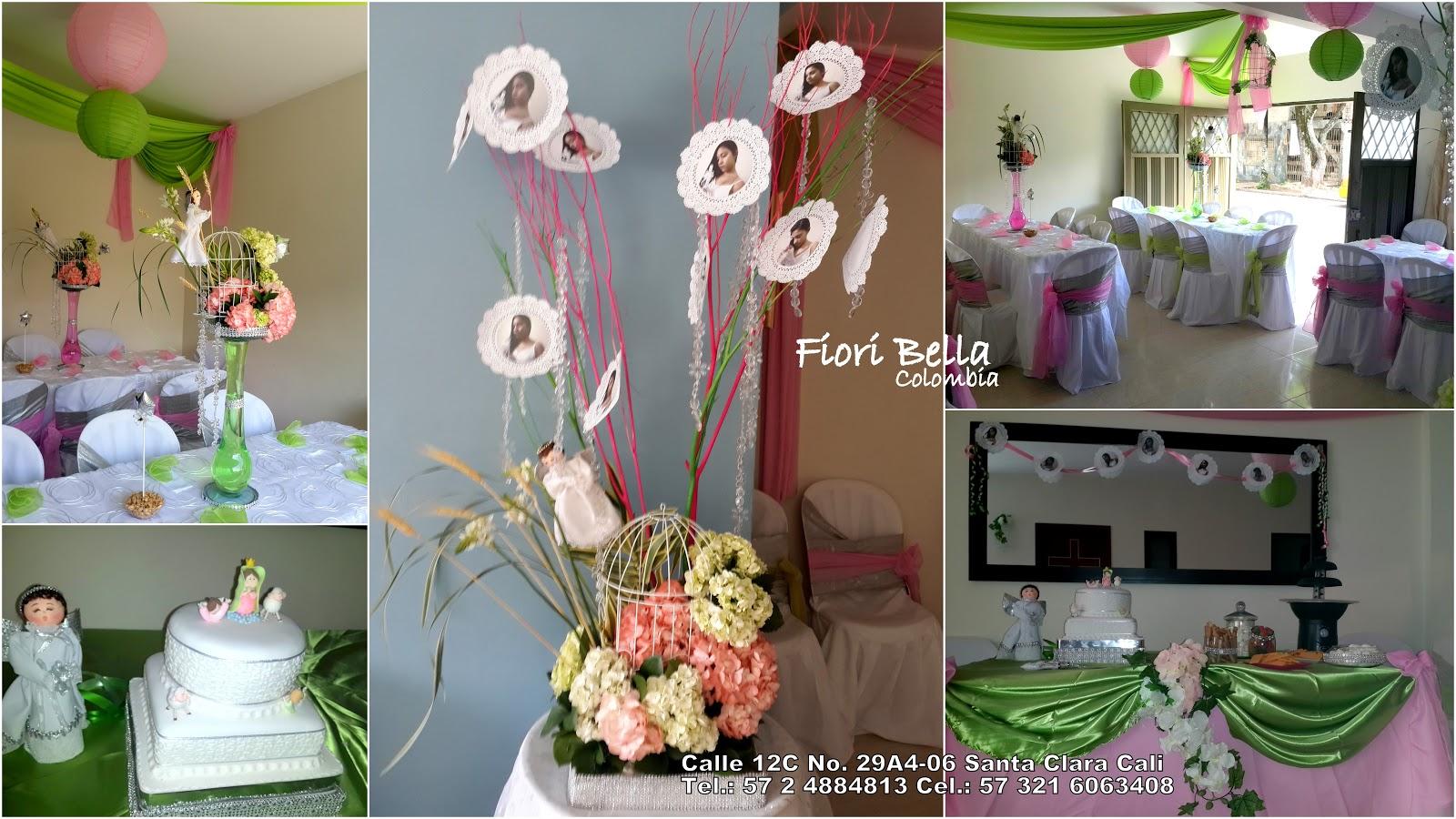 Primera comuni n ni a fiori bella colombia - Decoracion de mesa para comunion ...