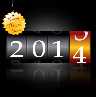 Cuenta atrás año 2014  - Vector