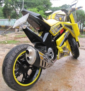 2011Modified Yamaha Mio Stylish Bumblebee Transformers