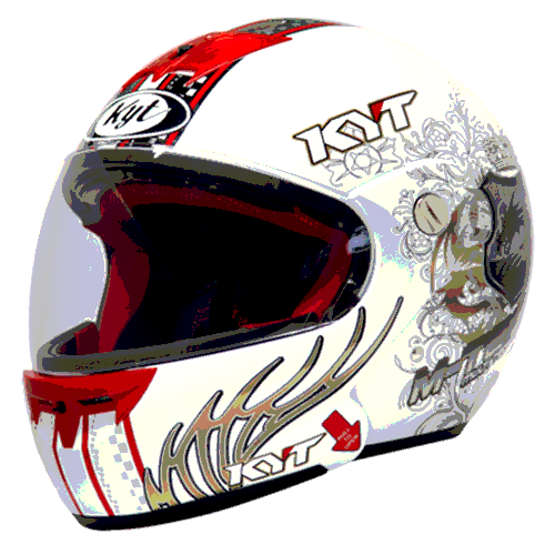 helm kyt M-Tech Dragon - White / Gold / Black (F.F)