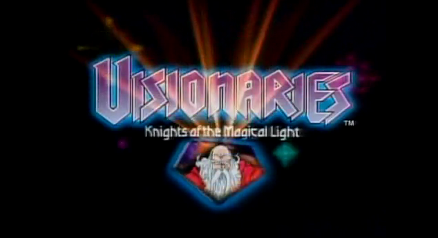 Visionaries Knightsof the Magical Light 1987 short-lived Sunbow Productions kids show title visionaries logo