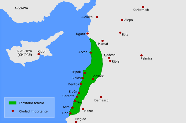 Fenicia-Canaán 1200 a. C.– 539 a. C.