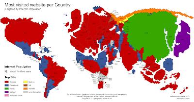 Las webs mas visitadas por pais en 2013