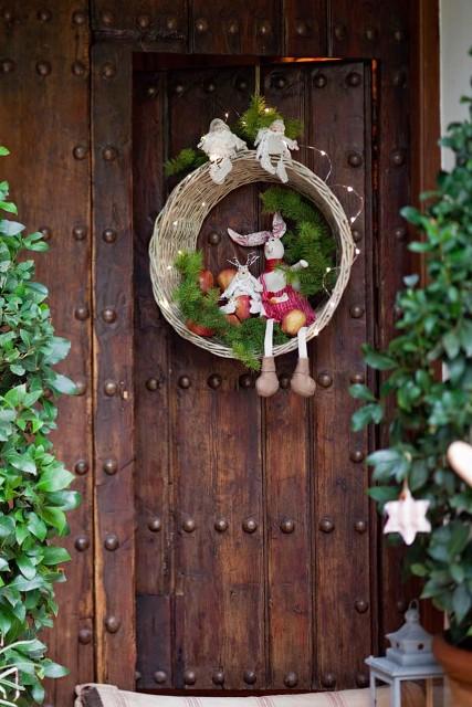 Navidad en rojo red christmas for Decoracion de la puerta de entrada