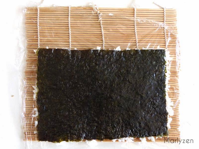Retournez : le riz est face makisu.